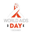 world aids day isolated icon with human hands vector image