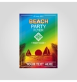 flayer Beach Party vector image