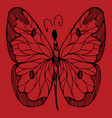 hand drawn sketch style butterfly retro hand vector image