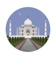 Taj Mahal palace icon vector image