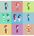fashion girls collection set vector image