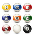 billiardpool balls collection snooker white vector image