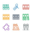 9 order icons vector image vector image