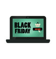 advertising on the internet black friday vector image