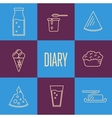 Assortment of dairy products square composition vector image vector image