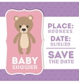 Bear animal baby shower card icon