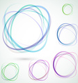 Bright colorful circle design elements set vector image vector image
