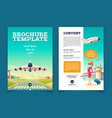 brochure with airplane takeoff tourism vector image vector image