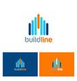 building line color logo vector image vector image
