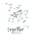 business concept hold hands spirit together vector image vector image