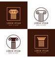 business corporate identity with columns ancient vector image vector image