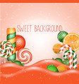 candy land background vector image vector image