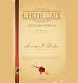 certificate of achievement retro template vector image vector image