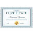 certificate or diploma template with frame border vector image