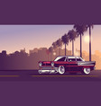 classic american in downtown city sunset vector image vector image