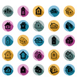 Different houses icons for use in graphic design vector image