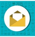 envelope mail message isolated icon vector image