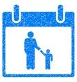 Father Calendar Day Grainy Texture Icon vector image vector image