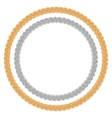 Figured gold and silver chain - round frame vector image vector image