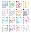 File format set icons vector image vector image
