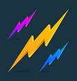 flash 3d icon lightning theme on a black vector image