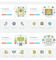flat line business concepts set vector image vector image