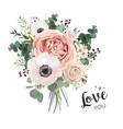 flower bouquet floral bunch boho design object vector image vector image