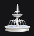 fountains realistic isolated composition vector image