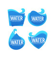 fresh clean natural collection of water vector image vector image
