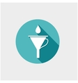 Funnel with drop vector image