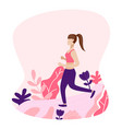 girl run in forest concept girl vector image