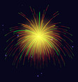 golden green red fireworks holidays background vector image vector image
