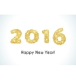 Happy New Year 2016 golden greeting card made in vector image vector image