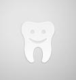 Happy tooth vector image vector image