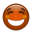 laughing emoticon style icon vector image vector image