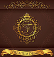 Letter F Luxury Logo template flourishes vector image