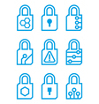lock internet set icon vector image vector image