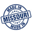 made in missouri blue grunge round stamp vector image vector image