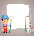 male painter with back vector image