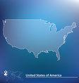Map of United States of America vector image vector image
