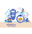 mobile and pc smart search online assistant vector image vector image