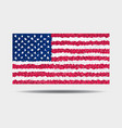 national flag usa which made triangles in vector image