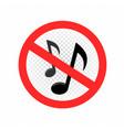 no music sign symbol icon vector image vector image