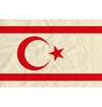 Northern cyprus paper flag vector image vector image