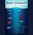 ocean crossword game template vector image vector image