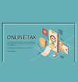 online tax payment credit card from smartphone vector image