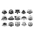 outdoors nature badges adventure emblem vintage vector image