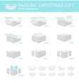 Packing of Christmas Gift vector image