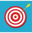 Red darts target aim vector image vector image