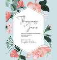 roses bloom flower watercolor herbs and leaf pink vector image